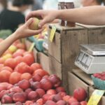 apples, farmers market, business